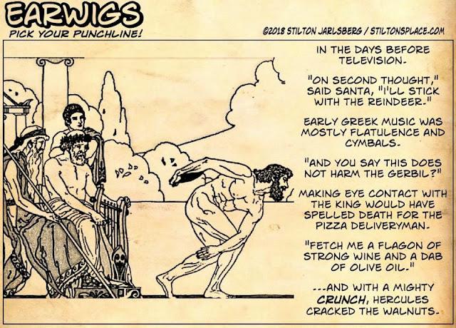 stilton's place, stilton, political, humor, conservative, cartoons, jokes, hope n' change, earwigs, naked greek