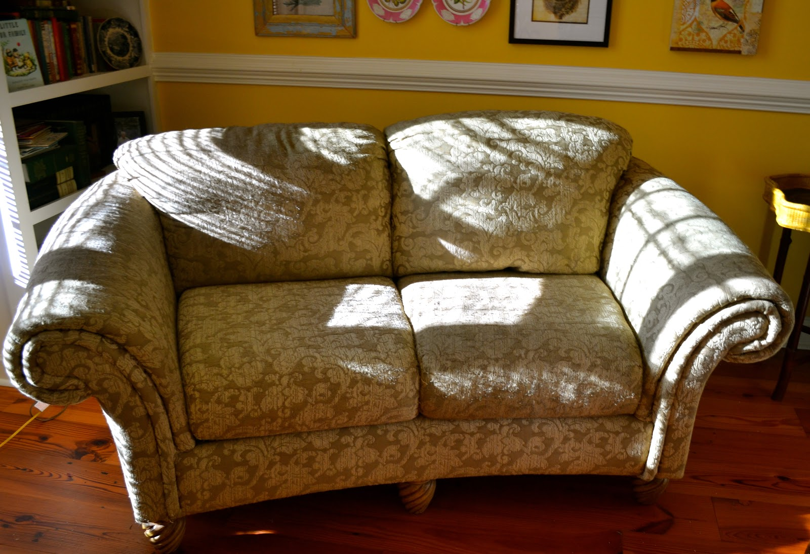 Ediblecreativity Tuck Pin Done No Sew Loveseat Slipcover In 30