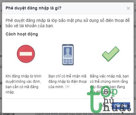 Bật xét duyệt đăng nhập facebook