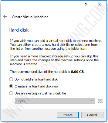 Hard disk window snapshot