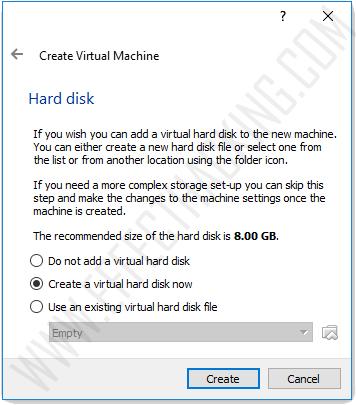 Hard disk window snapshot