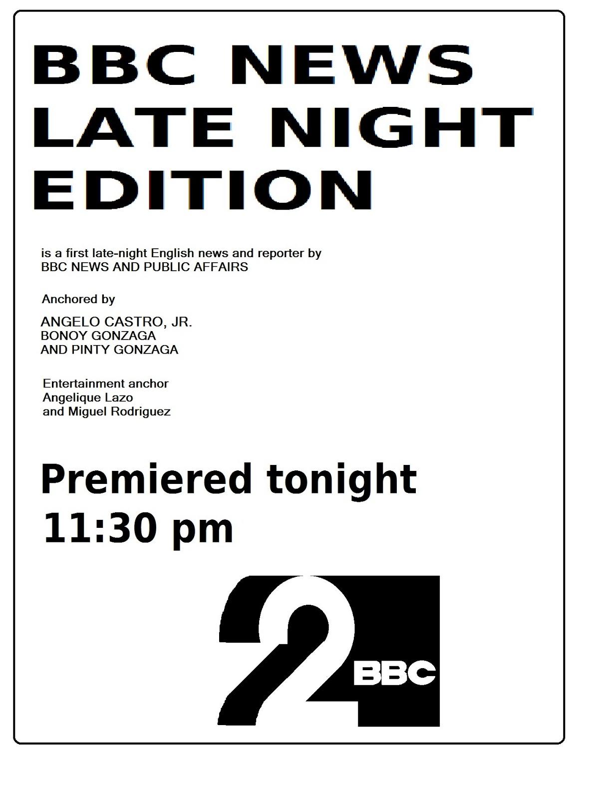 Bonoy Gonzaga: BBC News Late Night Edition on BBC Channel