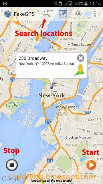 Mengunci lokasi fake GPS