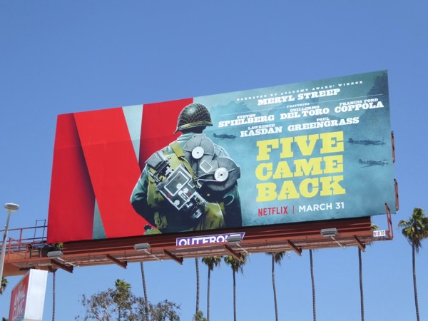 Five Came Back series premiere billboard