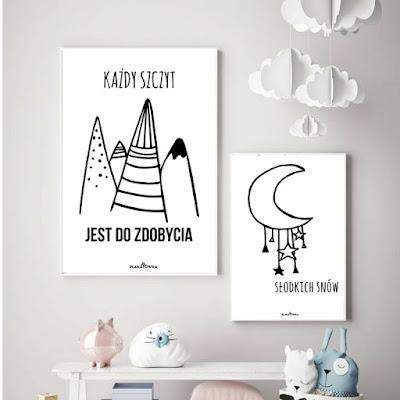 skandynawskie plakaty do pokoju dziecka do druku za darmo