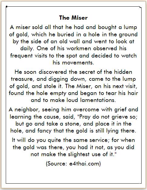 Cerita Harta Karun Bahasa Inggris