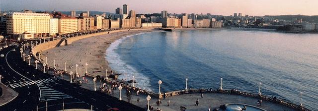 Paseo Marítimo em La Coruña