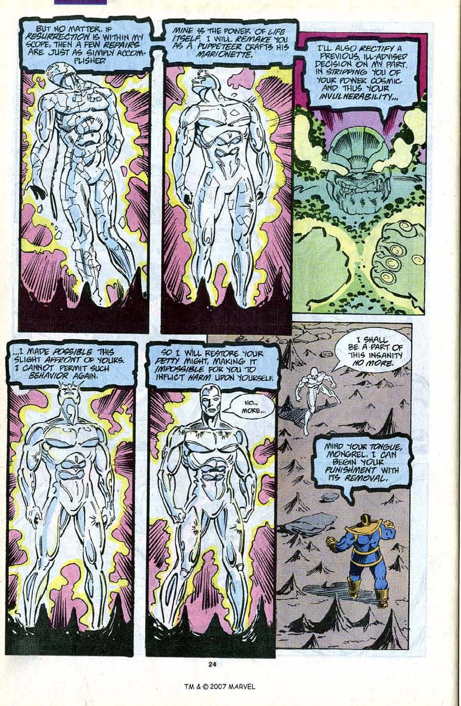 Read online Silver Surfer (1987) comic -  Issue #56 - 26