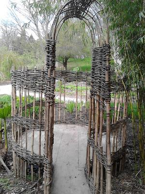 Bamboo cane den Improve your garden Hillier Gardens Green Fingered Blog