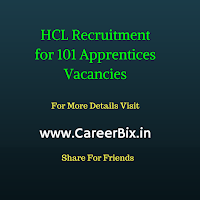 HCL Recruitment for 101 Apprentices Vacancies