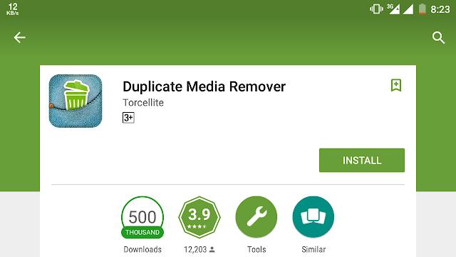 Duplicate media remover