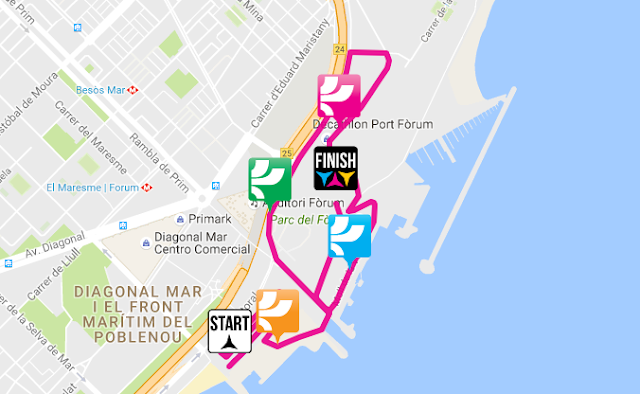 Mapa del recorrido de 5km The Color Run