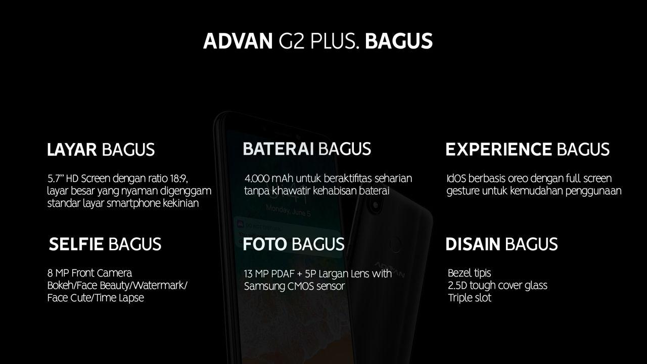 Advan G2 Plus (G2+) - Harga dan Spesifikasi Lengkap
