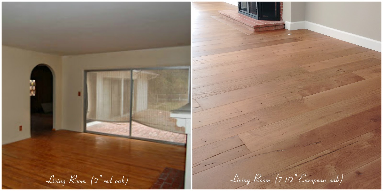 home renovation improvement remodel wide plank oak flooring