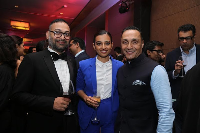 Che Kurrien with Radhika Apte and Rahul Bose at GQ Men of the Year Awards 2016 to celebrate GQ's 8th Anniversary