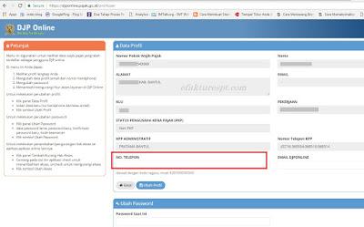 Profil DJP Online, djponline.pajak.go.id