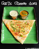 Garlic cheese dosa recipe