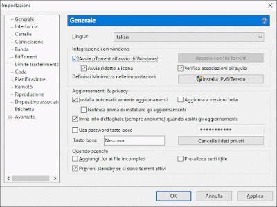 Come far partire Torrent all'avvio di Windows
