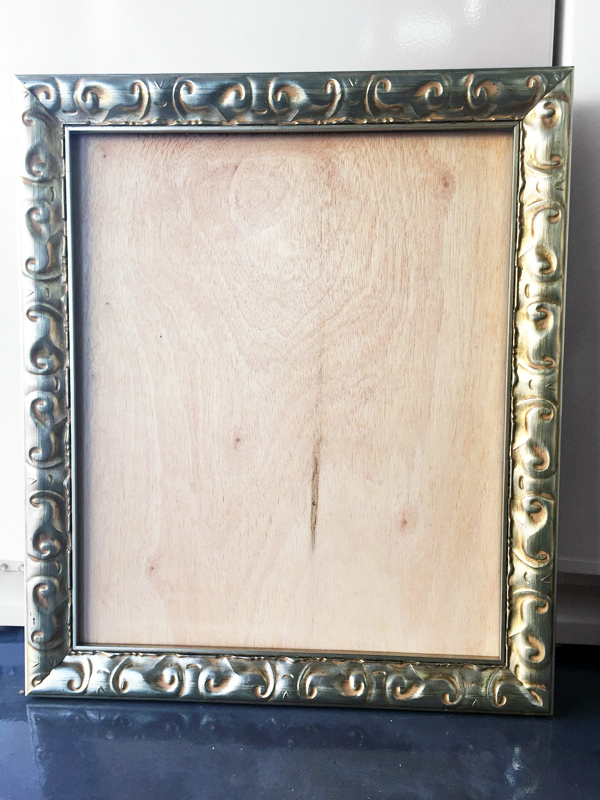 diy with style} Framed Paint Brush Art | Blue i Style - Creating an ...