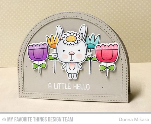 Handmade card from Donna Mikasa featuring products from My Favorite Things #mftstamps