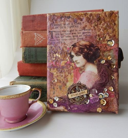 Lady in Pink, Finnabair Style Romantic Canvas by Dapoppins
