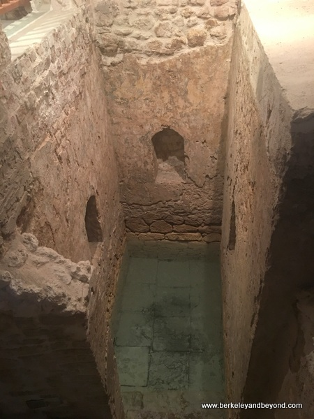 mikvah bath at Nidhe Israel Synagogue and Museum in Bridgetown, Barbados