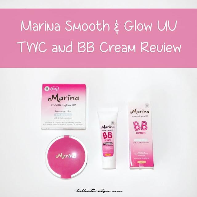 marina smooth and glow uv series two way cake bb cream yang cocok untuk kulit remaja harga murah meriah dan warna yang sesuai jenis kulit orang asia