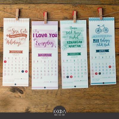 Harga Promosi Kalender Cuti 2017 By Kekida 1