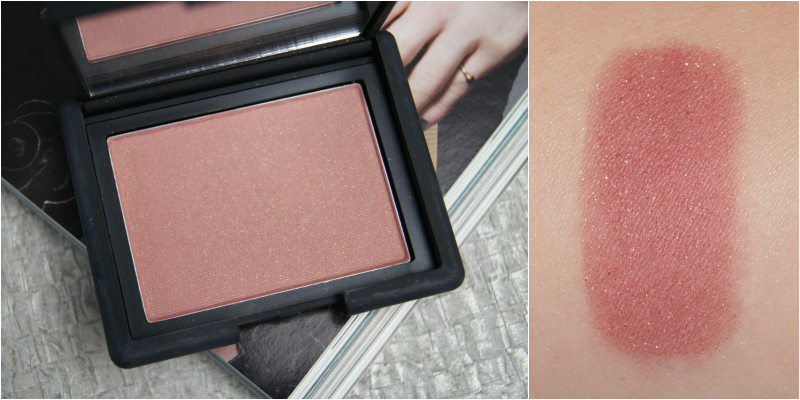 nars oasis powder blush review swatch dusky lilac rose shade golden shimmer great neutral colour easy to wear