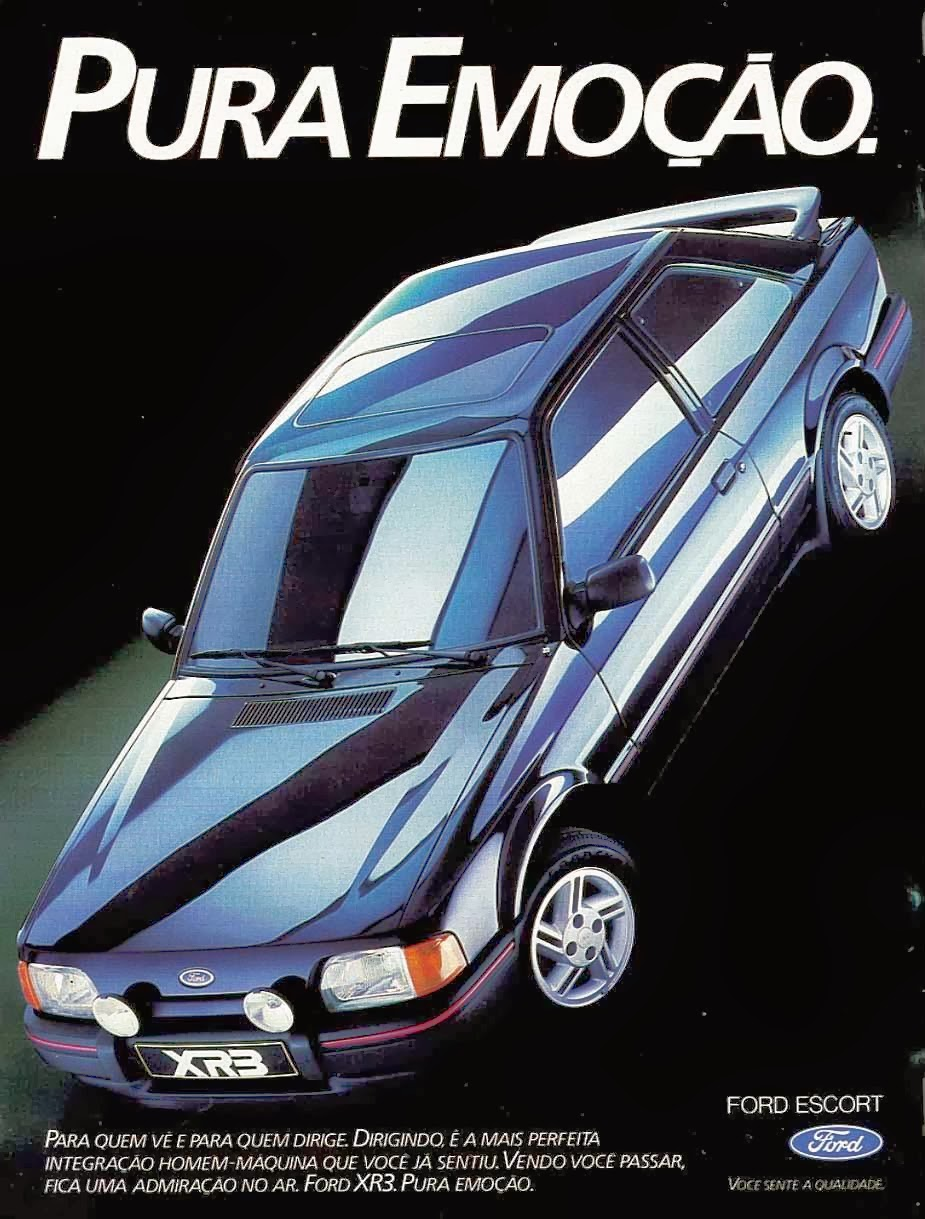 Propaganda do Ford Escort em 1988