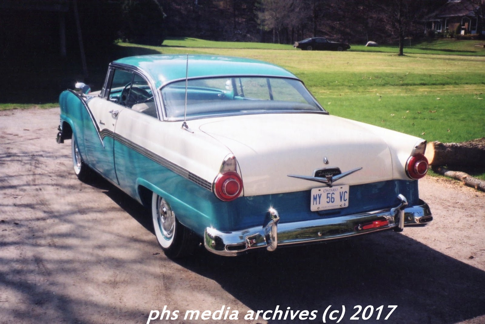 this restored example was left with a clean rear, most cars didn't get   american classic: 1956 ford fairlane