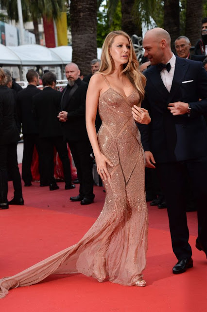 Actress, Model, @ Blake Lively in Versace - 'Cafe Society' Cannes Premiere