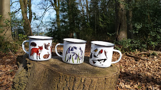 Tin Mugs by Alice Draws The Line