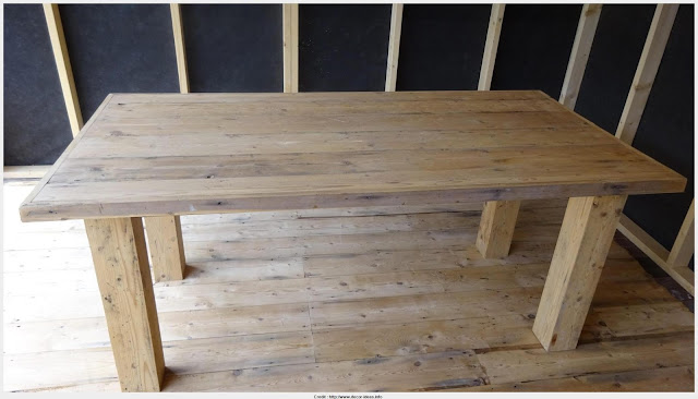Great Antique Pine Dining Table Graphic