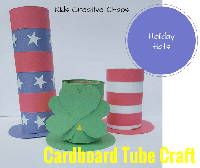 toilet tube cardboard activity for flag day craft American, Independence, Memorial
