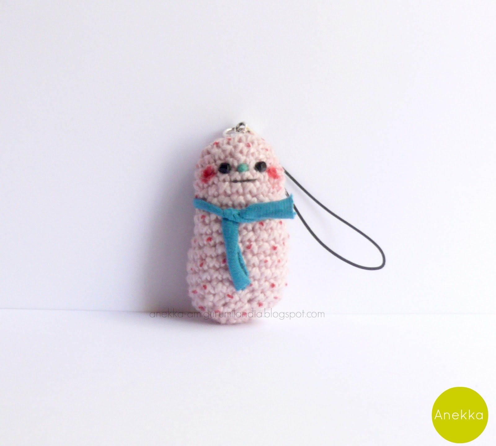 monster keychain crochet handmade