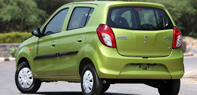 2016 latest Maruti Suzuki Alto800 Facelift rear look image