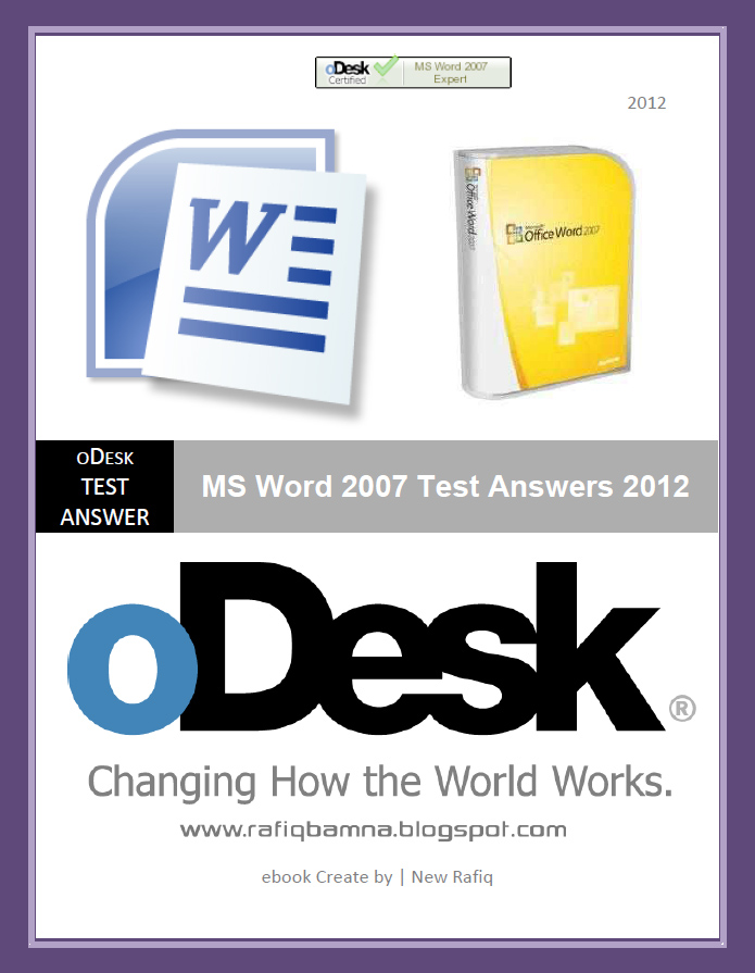 MS-Word-2007-Test-Answers-2012 Cover Letter For Content Writer Upwork on