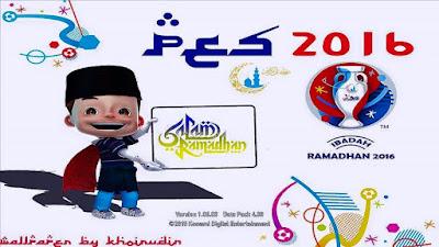 Start Screen PES 2016 versi Ramadhan + Euro 2016