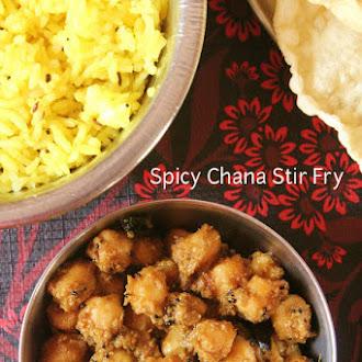 Spicy Chana Stir Fry
