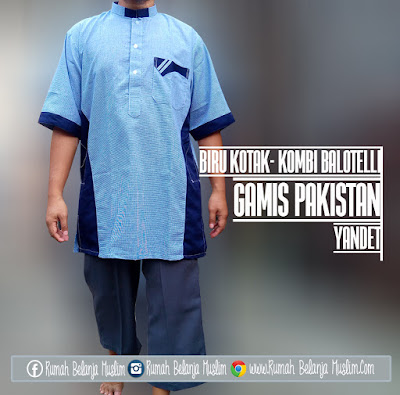 Baju Koko Pakistan Yandet Biru Kombi Balotelli