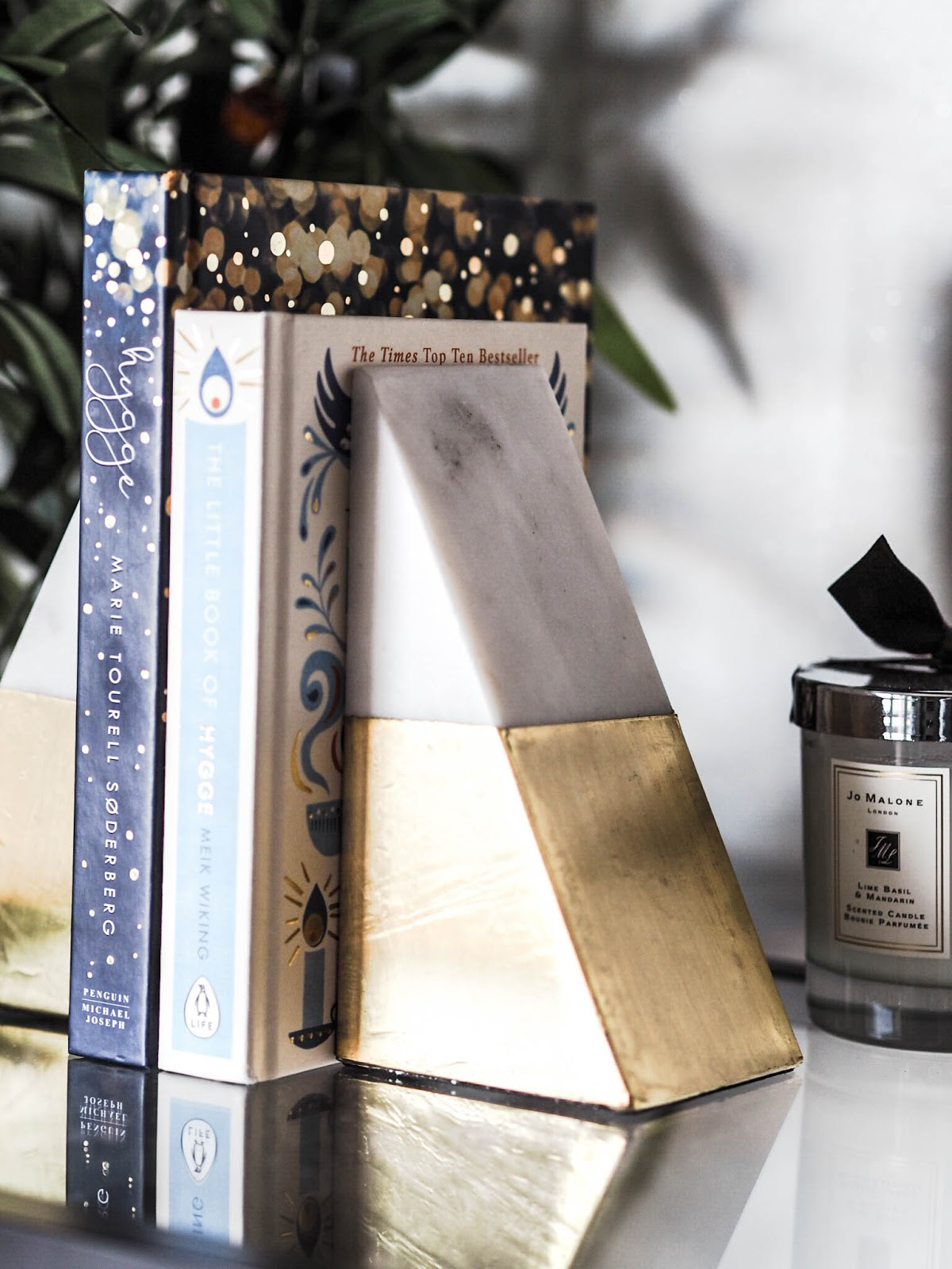 River Island Marble Bookends