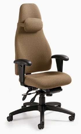 Global Obusforme Chair with Headrest