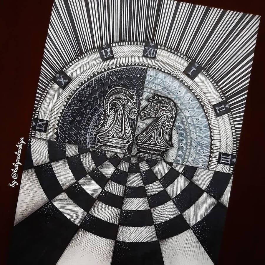 10-Chess Knight-Anugrah-Momof-Mandala-Art-www-designstack-co