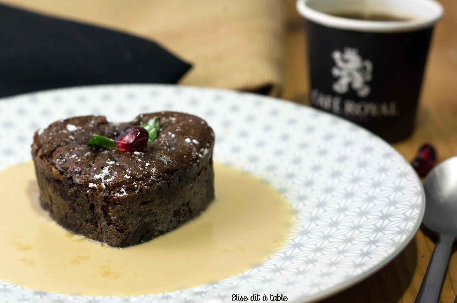recette moelleux chocolat café, crème café caramel