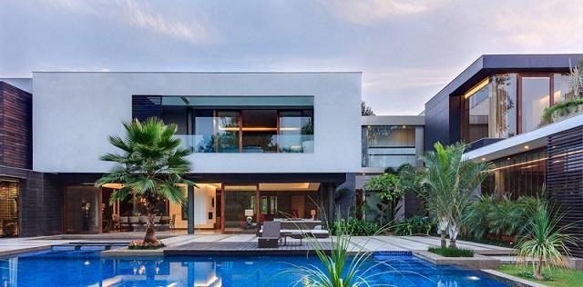 Casas minimalistas y modernas casa contemporanea en la india for Casas contemporaneas modernas