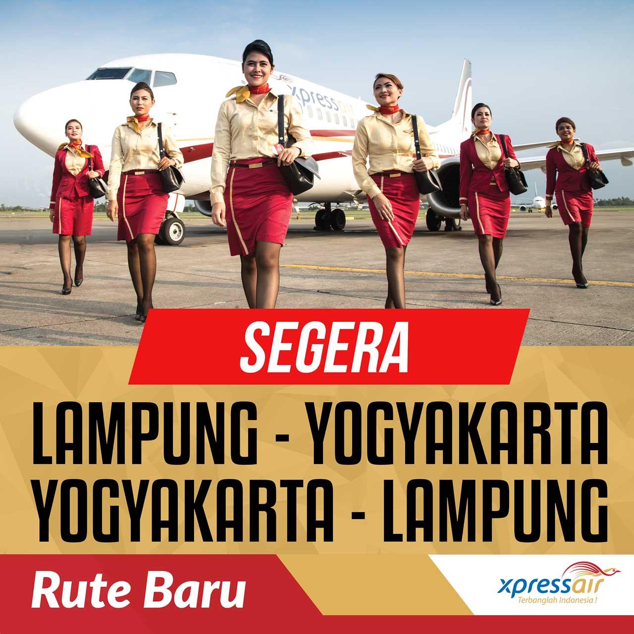 Tiket Pesawat Murah Lampung Yogyakarta Jogja Dan Yogyakarta Jogja Lampung Dengan Pesawat Xpress Air Tanpa Transit Menulis Indonesia
