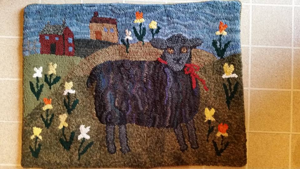 with hook and needle  sheep challenge