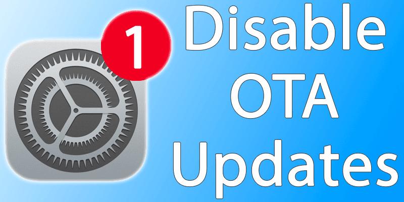 disable ota updates on iphone