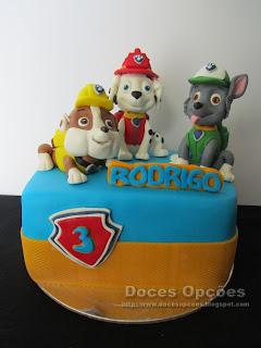 bolo patrulha pata bragança doces opções